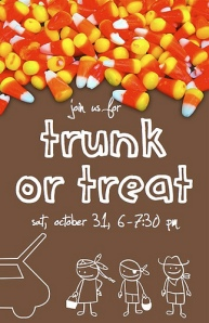 Trunk Or Treat Flyer http://micahcaswell.wordpress.com/2009/10/07/trunk-or-treat/